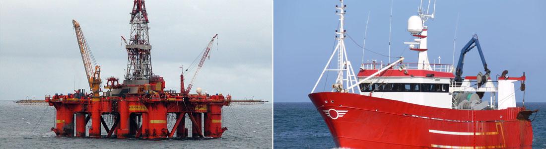 Boreplatform og skib